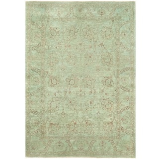 Herat Oriental Afghan Hand-knotted Over-dyed Oushak Wool Rug (4'11 x 6'11)