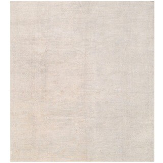 Herat Oriental Afghan Hand-knotted White Wash Oushak Wool Rug (9'3 x 10'6)