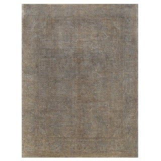 Herat Oriental Afghan Hand-knotted Over-dyed Oushak Wool Rug (9' x 11'10)