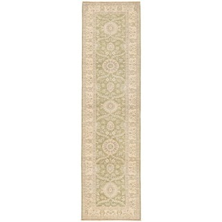 Herat Oriental Afghan Hand-knotted Vegetable Dye Oushak Wool Runner (2'8 x 9'11)