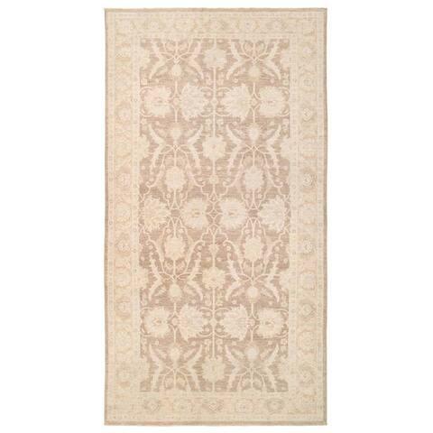 Handmade Vegetable Dye Oushak Wool Rug (Afghanistan) - 5'7 x 10'10