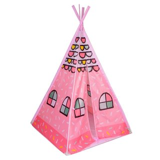 Alina Indian Kids Princess Pink-portable Teepee Playhouse