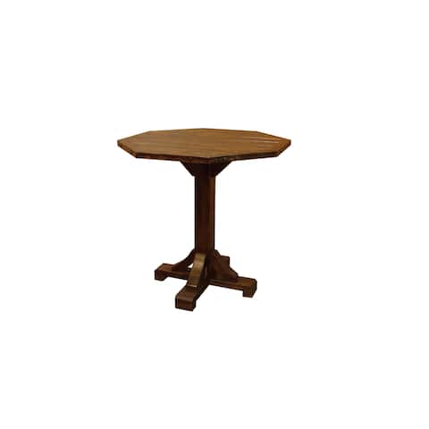 Barn Wood Style Timber Peg Bistro Table - Counter or Bar Height- Amish Made