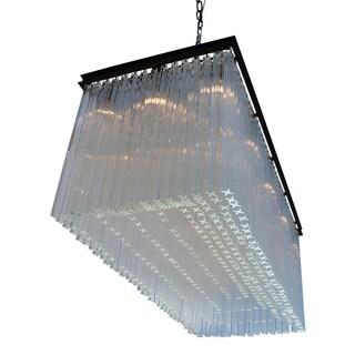 The Astrid 15 Light Rectangular Crystal Prism Chandelier