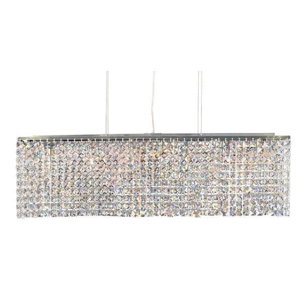 Shop 40 inch modern antique brass crystal suspension linear 40 inch modern antique brass crystal suspension linear chandelier aloadofball Choice Image