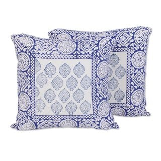 Pair of Cotton Cushion Covers, Royal Bliss (India)