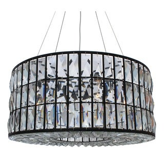 The Monroe Round Clear Crystal Chandelier