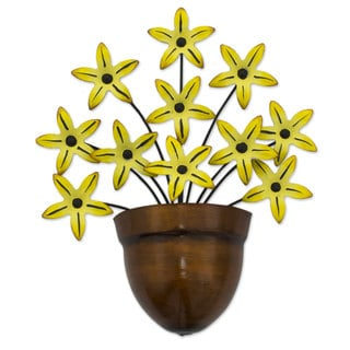 Iron Wall Sculpture, Black-Eyed Susan (Mexico)