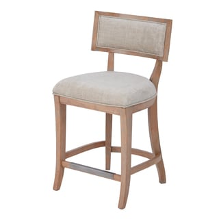Madison Park Signature Marie Beige/ Light Natural Counter Stool