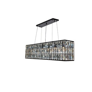 The Monroe Rectangular Clear Crystal Chandelier