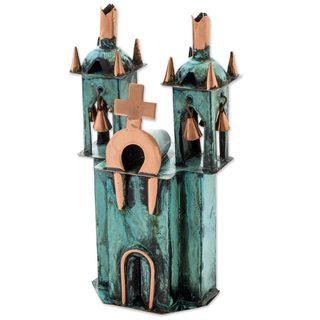 Handmade Copper and Bronze Ayacucho Church Sculpture (Peru)
