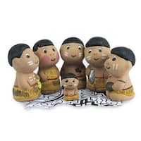 Handmade Ceramic Nativity Scene, 'In The Amazon' (Peru)