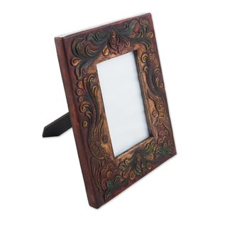Leather and Wood Photo Frame, Memories Take Flight (Peru)