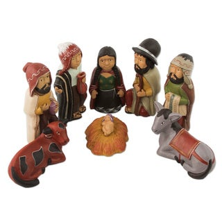 Handmade Kings of The andes Ceramic Nativity (Peru)