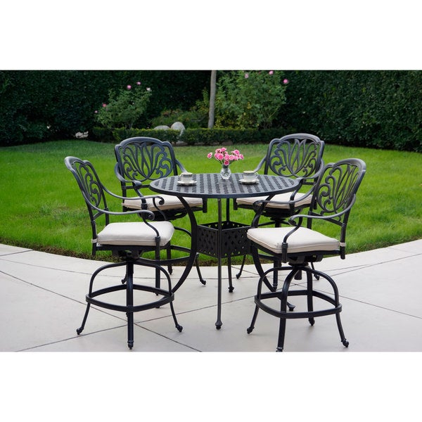 Sicily Garden Furniture Sicily 5 piece bar set with seat cushion 42 inch counter height sicily 5 piece bar set with seat cushion 42 inch counter height workwithnaturefo