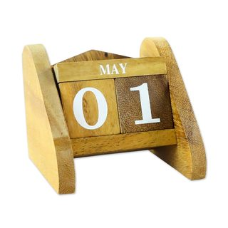 Wood Desk Calendar, Time Catcher (Thailand)