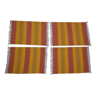 Handmade Set of 4 Zapotec Cotton Placements, 'Oaxaca Sunset' (Mexico)