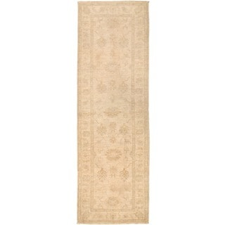 Herat Oriental Afghan Hand-knotted Vegetable Dye Oushak Wool Runner (2'9 x 8'7)