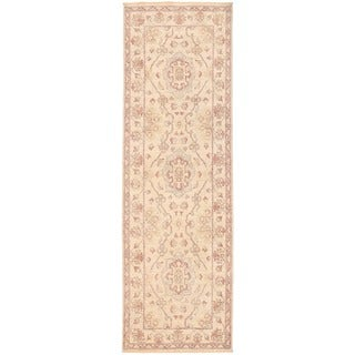 Herat Oriental Afghan Hand-knotted Vegetable Dye Oushak Wool Runner (2'7 x 8'8)