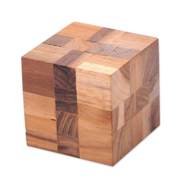 Handmade Teakwood Puzzle, Cube Quiz (Indonesia)