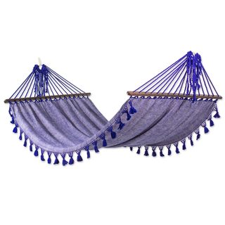 Handmade Cotton Hammock, 'Take Me To The Stars' (Guatemala)