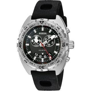 Fossil Men's CH3011 'Breaker' Black Silicone Watch
