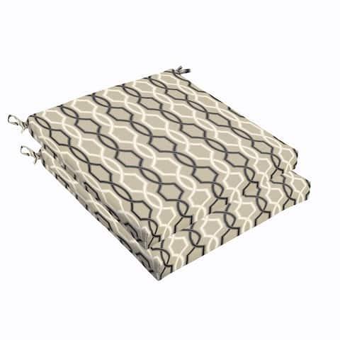 Sloane Black and Tan Indoor/ Outdoor 19 inch Cushion Set