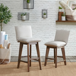 INK+IVY Kendall Tan/ Light Grey 30-Inch Barstool
