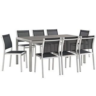 Shore 9 Piece Outdoor Patio Aluminum Dining Set