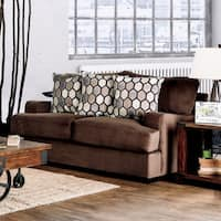 Sheila Transitional Modern English Style Velvet Loveseat by Furniture of America