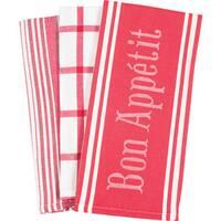Kitchen Towels 'Bon Appetit' (Set of 3)