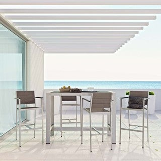 Shore 5-piece Outdoor Patio Aluminum Dining Set