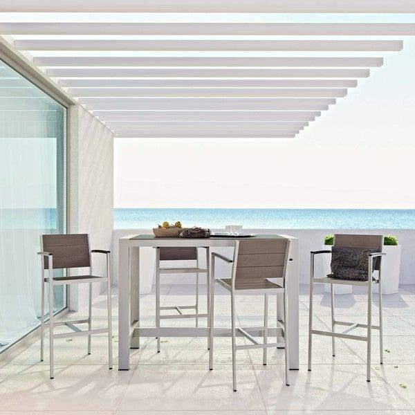 Shore 5-piece Outdoor Patio Aluminum Dining Set