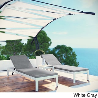 Shore 3-piece Outdoor Patio Aluminum Chaise with Cushions