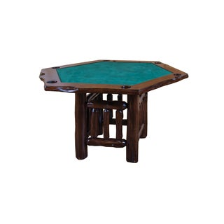 Live Edge Rustic Red Cedar HEXAGON Game Table - Amish Made USA