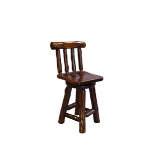 Live Edge Rustic Red Cedar Log Bar Stools -Amish Made USA- Multiple Sizes