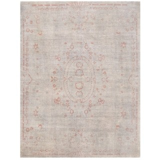 Herat Oriental Afghan Hand-knotted Vegetable Dye Aubusson Wool Rug (7'11 x 10'5)