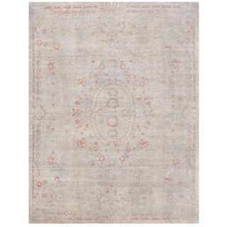 Herat Oriental Afghan Hand-knotted Vegetable Dye Aubuson Wool Rug (7'11 x 10'5)