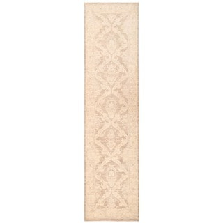 Herat Oriental Afghan Hand-knotted Vegetable Dye Tabriz Wool Runner (2'10 x 11'9)
