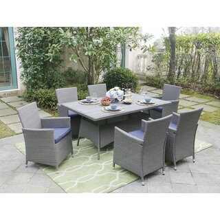 DG Casa Aventura Blue Table and 6 Chairs Dining Set