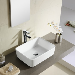 Fine Fixtures Modern Vitreous China Bathroom Vessel Sink