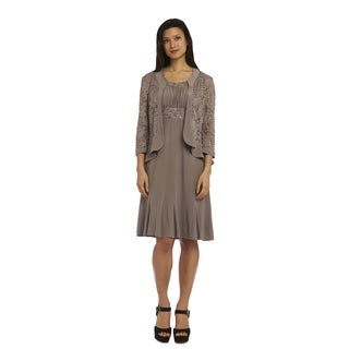 R&M Richard Women's Mocha Lace Dress