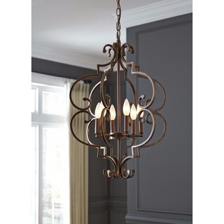Signature Design by Ashley Kanab Antique Copper Finish Metal Pendant Light