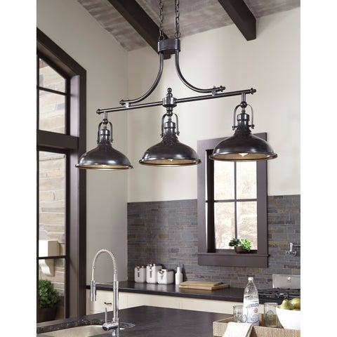 Signature Design by Ashley Joella Bronze Finish Metal Pendant Light - N/A