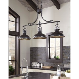 Signature Design by Ashley Joella Bronze Finish Metal Pendant Light
