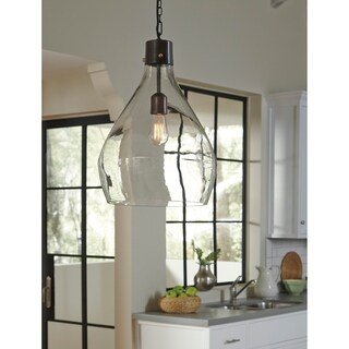 Avalbane Gray Glass 14 Inch Wide Pendant Light