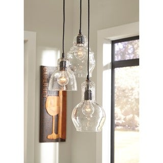 Signature Design by Ashley Adelphia Clear Glass Pendant Light