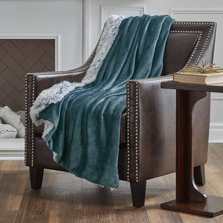 Serta Reversible Frosted Oversized Throw