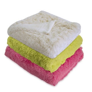 Serta Reversible Retro Plush Shag Throw