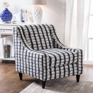 Feruca Contemporary Patterned Premium Fabric Sloped Arm Chair by Furniture of America